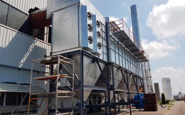 System filtracji spalin o wydajności 100 000 Nm3 / h zakładu recyklingu złomu nieżelaznego