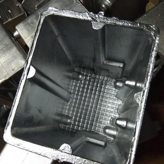 Полученная алюминиевая отливка корпуса
